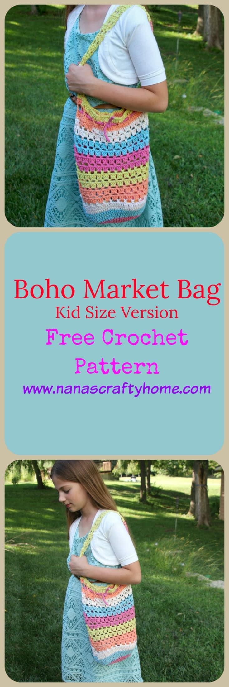 Boho Market Bag Crochet Pattern