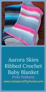 Aurora Skies Ribbed Crochet Baby Blanket