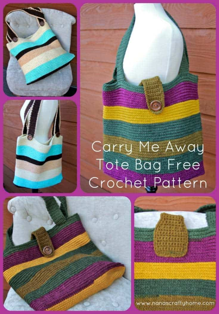 Carry Me Away Tote Bag Crochet Pattern