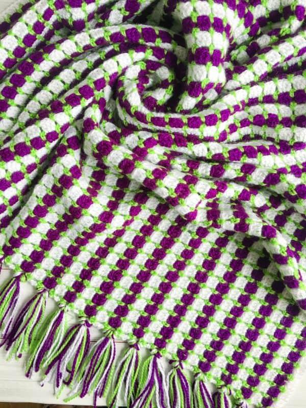 crochet modern granny blanket