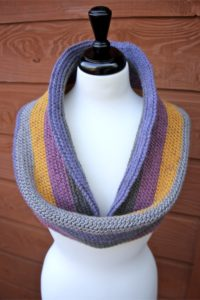Another way to wear the Knitty Pretty Reversible Crochet Cowl