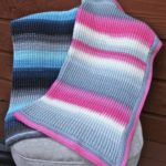 Aurora Skies Ribbed Crochet Baby Blanket pattern