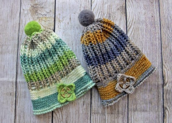 Alpine Ridges Crochet Hat featuring Caron Cupcakes