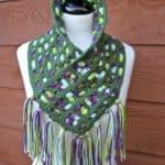 Cascading Colors Crochet Cowl free pattern