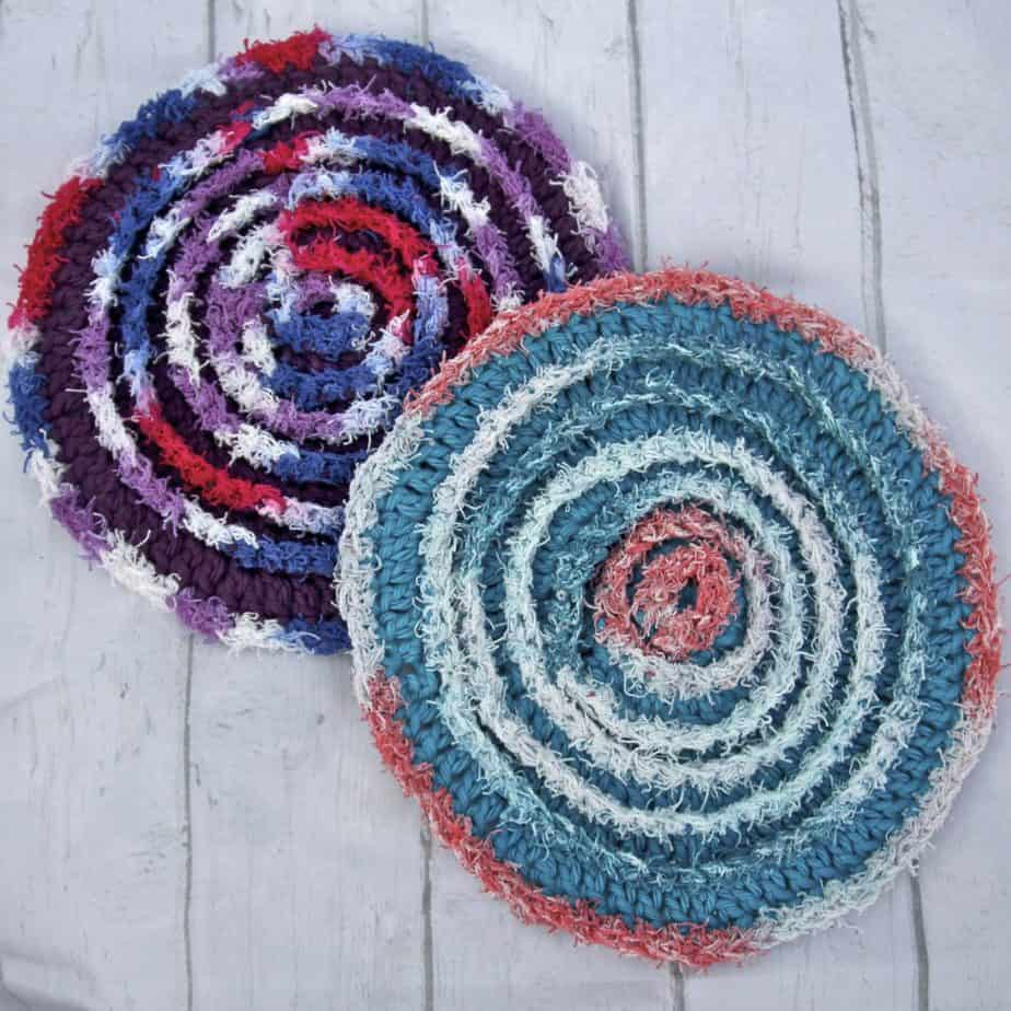scrubby yarn dishcloth pattern