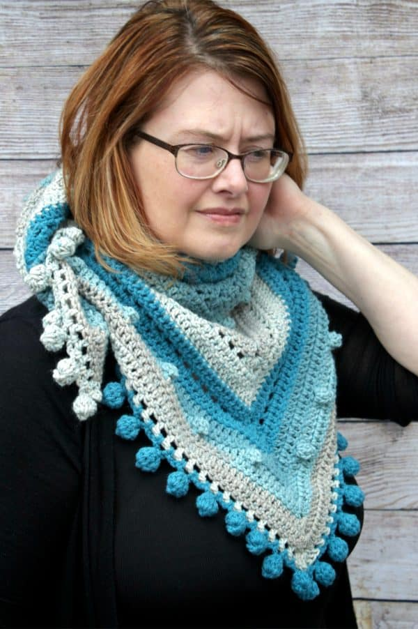 Misty Morning Triangle Scarf