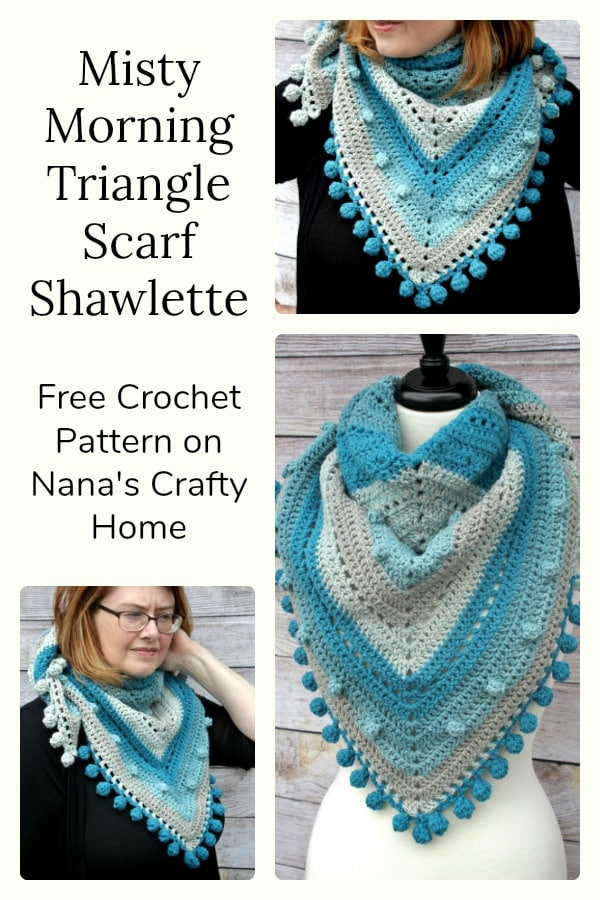Misty Morning Triangle Scarf Free Crochet Pattern