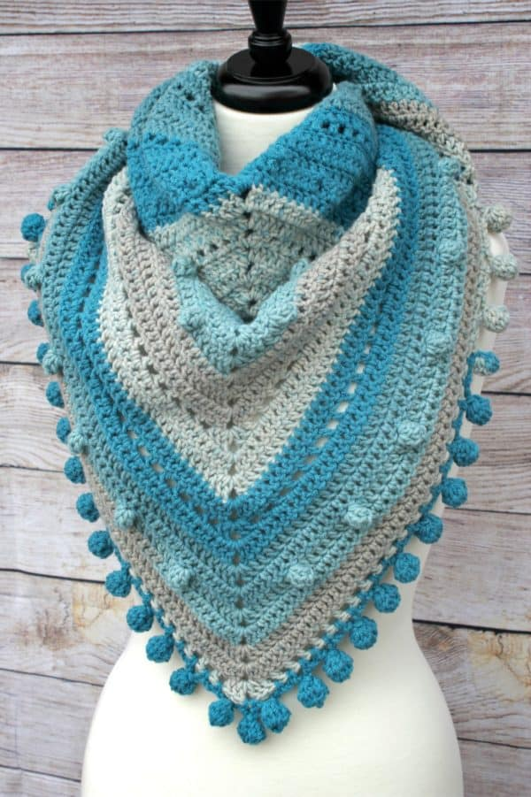 Misty Morning Triangle Scarf free crochet pattern