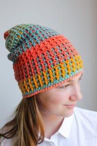 Crochet Hat looks Woven free crochet pattern