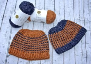 Inside and Out Reversible Messy Bun Hat