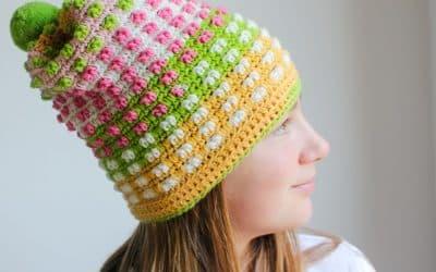 Free Crochet Hat Pattern Bubble Gum Pop Hat