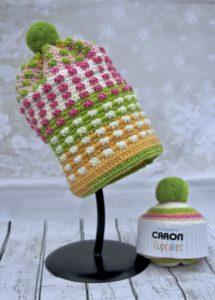 Bubble Gum Pop Hat Crochet pattern