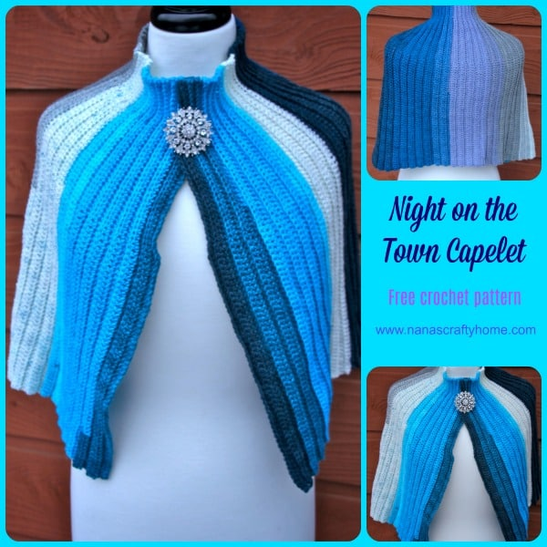 Night on the Town Capelet Crochet pattern Lion Brand Mandala