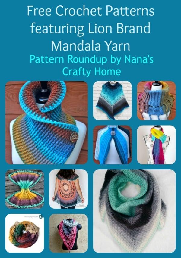 Crochet Pattern Roundup Featuring Lion Brand Mandala Yarn