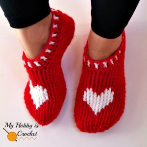 Heart and Sole Crochet Slippers by My Hobby is Crochet