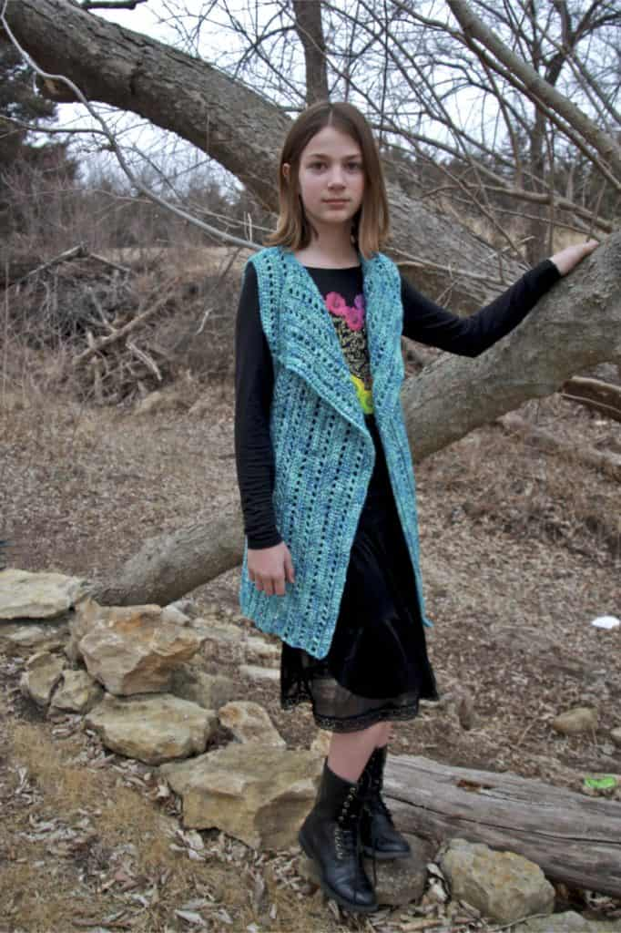 crochet vest child size free crochet pattern