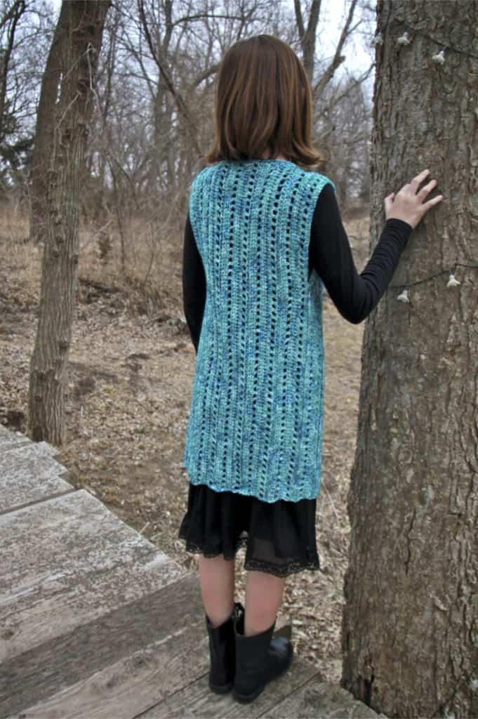 child size vest free crochet pattern