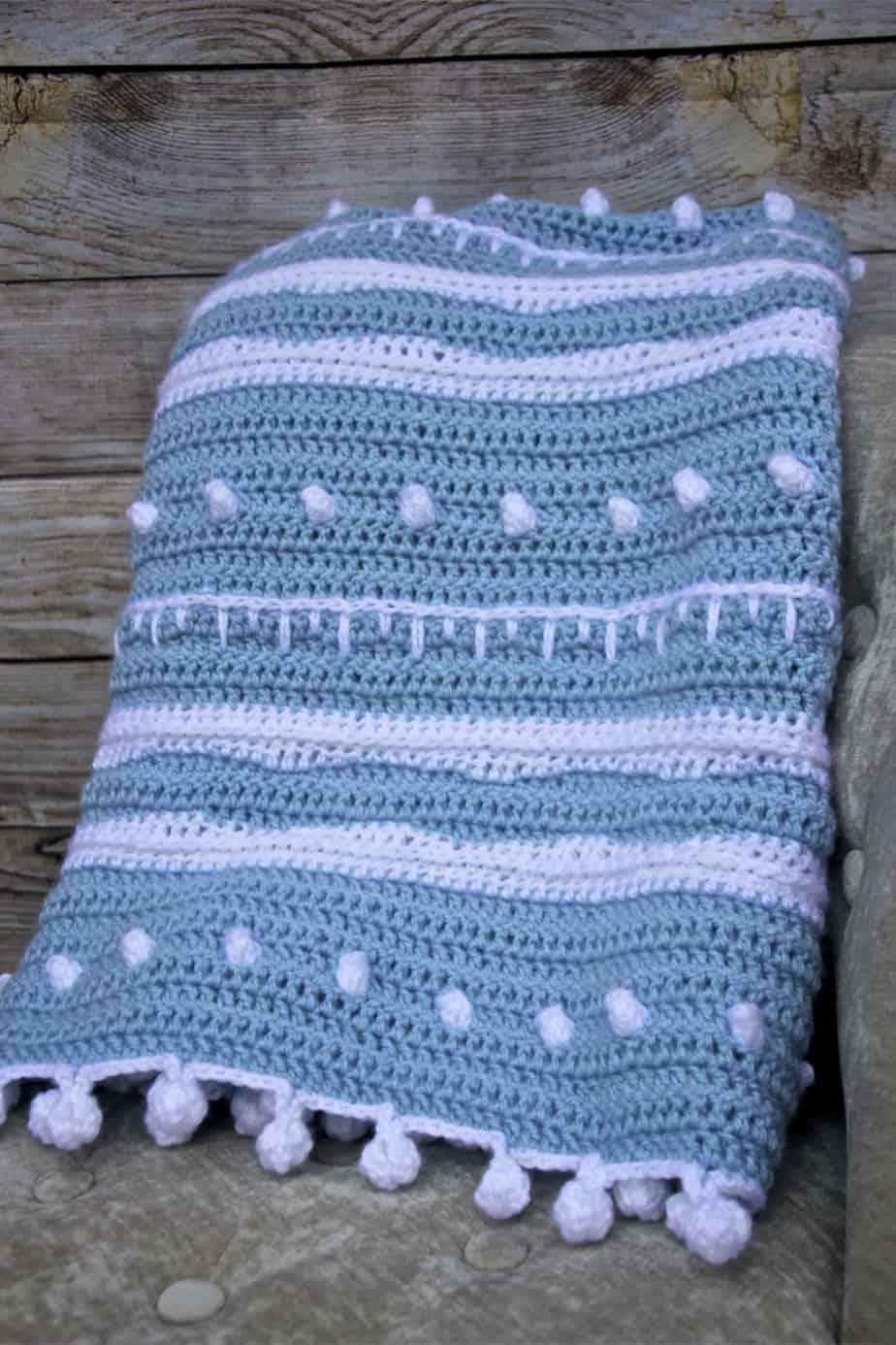 Winter Rhapsody Free Crochet Lap Blanket Stitch Sampler