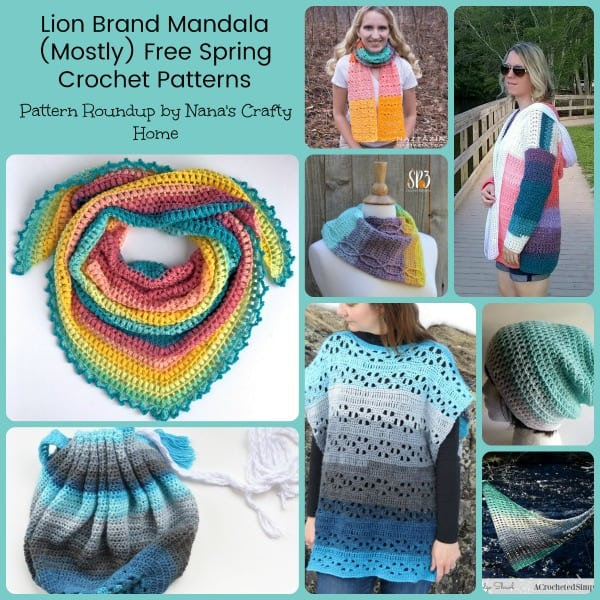 Lion Brand Mandala Mostly Free Spring Crochet Patterns