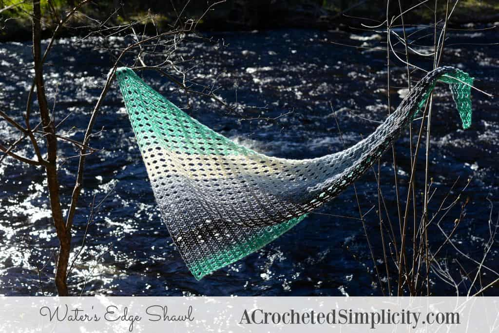 Water's Edge Shawl by A Crocheted Simplicity