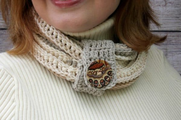Coiling Colors Cowl in Garden Path Cotton Cakes