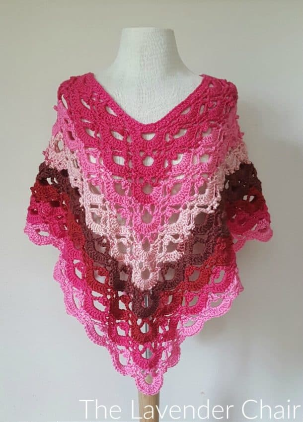 Gemstone Lacy Poncho by The Lavender Chair