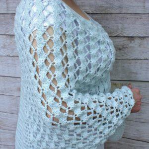 Whimsical Waves Crochet Poncho Free Pattern