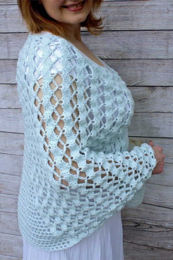 Whimsical Waves Crochet Poncho Free Pattern