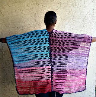 Bohemian Kimono Poncho by Olive + Brook