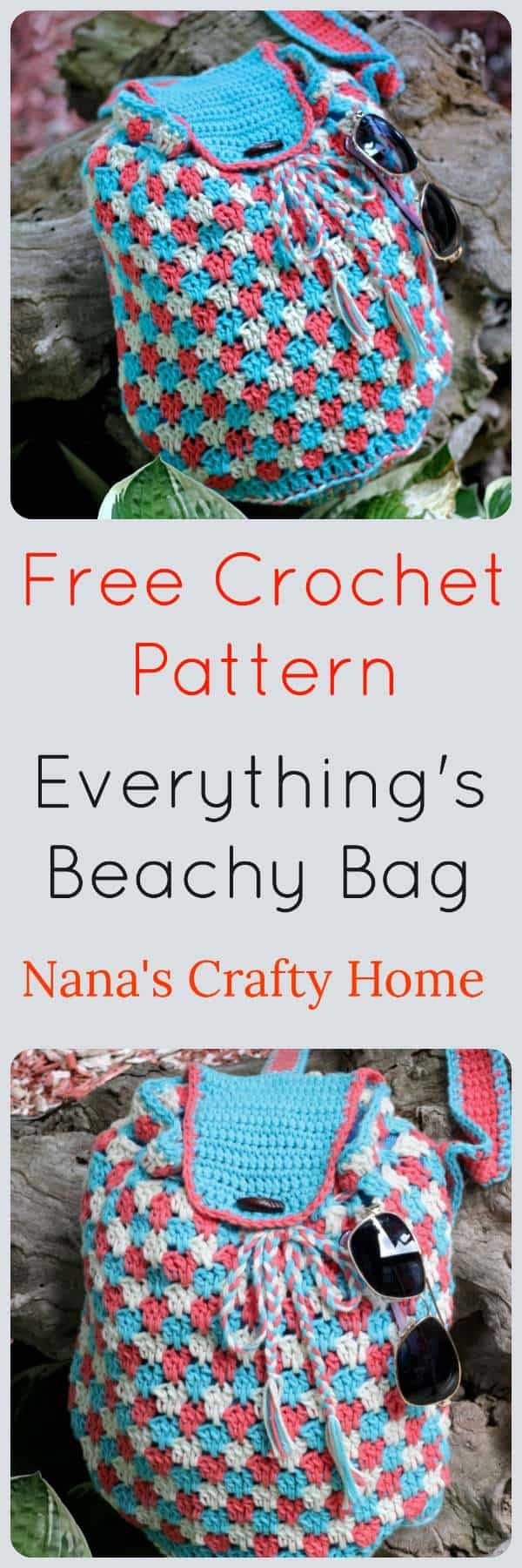 Everything's Beachy Bag Free Crochet Pattern made with I Love This Cotton! yarn sling crossbody bag