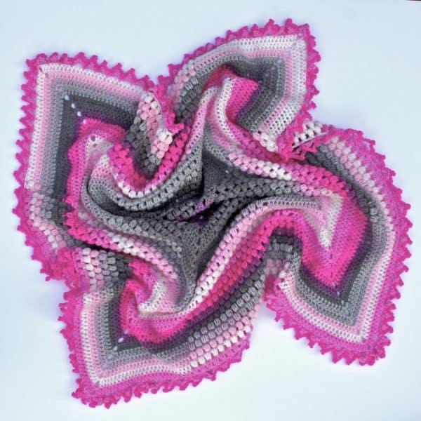 Pineapple of My Eye Blanket free crochet pattern featuring Lion Brand Mandala Baby