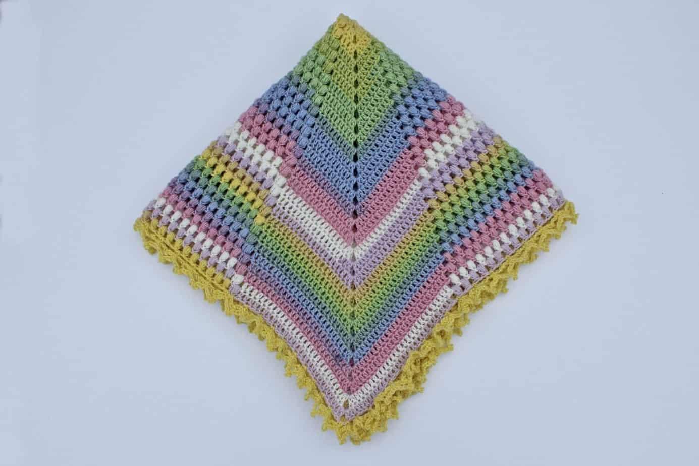 Pineapple of My Eye Baby Blanket a free crochet pattern