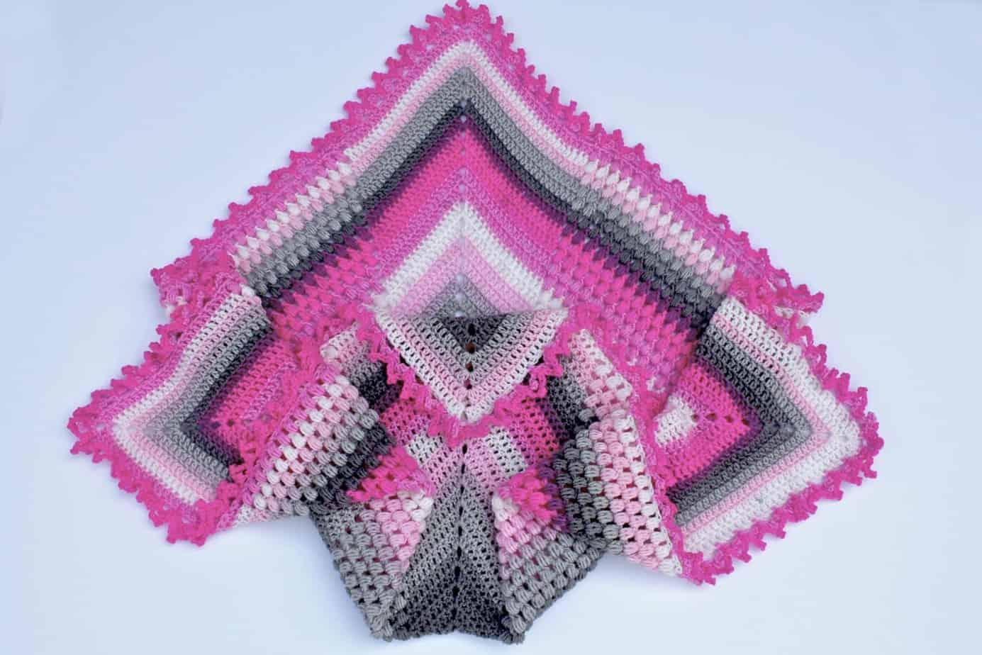 Pineapple of My Eye Baby Blanket free crochet pattern featuring Lion Brand Mandala Baby