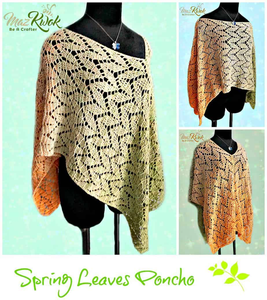 Spring Leaves Poncho by Be a Crafter