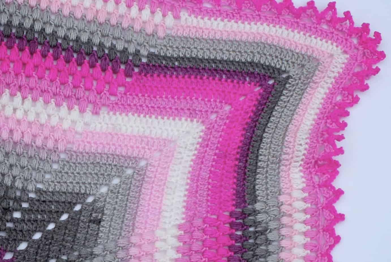 Pineapple of My Eye Baby Blanket a Free Crochet Pattern featuring Lion Brand Mandala Baby yarn