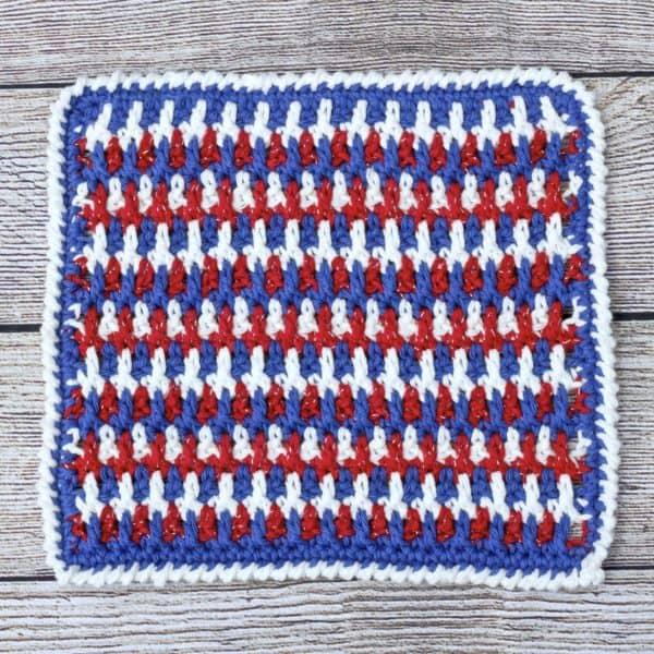 Any Holiday Textured Dishcloth free crochet pattern