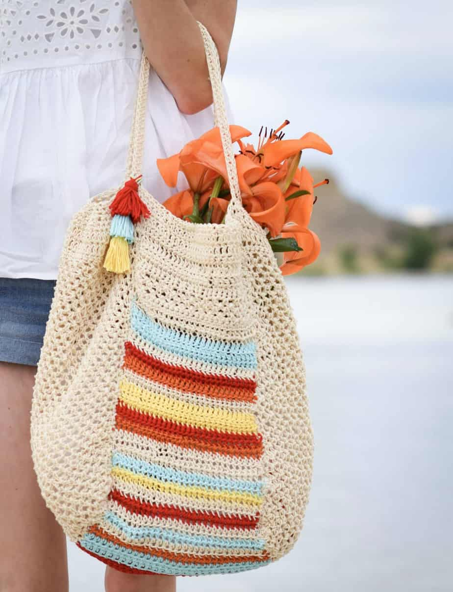 Caribe Big Crocheted Bag Pattern by Mama in a Stitch