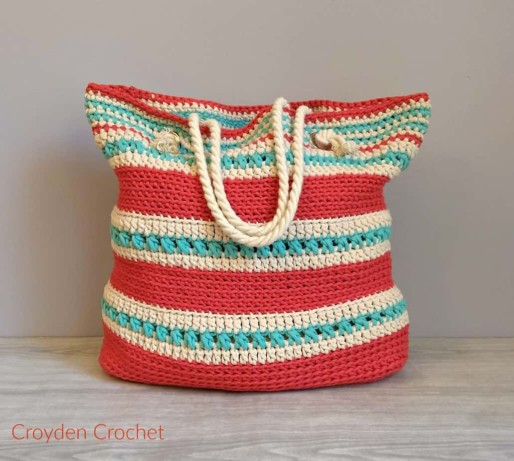 The Asbury Tote Bag by Croyden Crochet a free crochet bag pattern