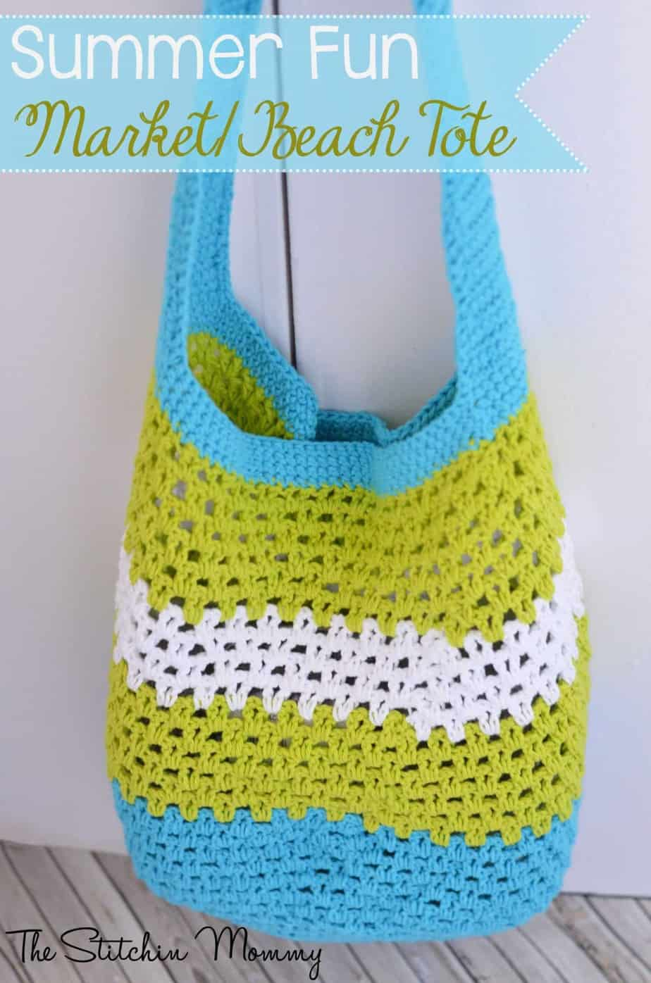 Summer Fun Market Beach Tote by The Stitchin Mommy