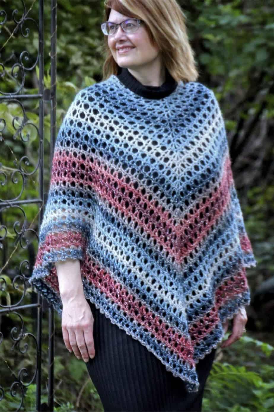 Midnight Madness Poncho a free crochet pattern