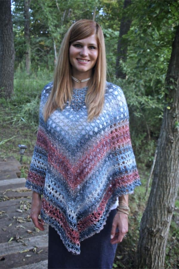 Midnight Madness Poncho free crochet pattern