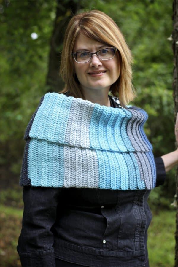 Simple Sparkle Scarf free crochet pattern