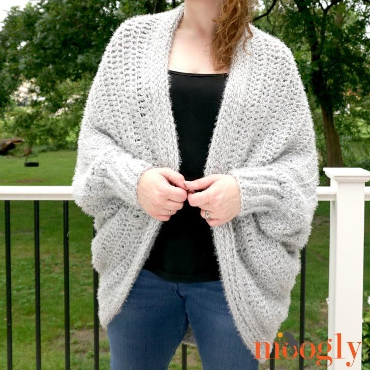Hygge Cocoon Cardigan free crochet pattern by Moogly