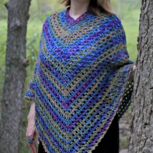 Midnight Madness Poncho Free Crochet Pattern Video Tutorial