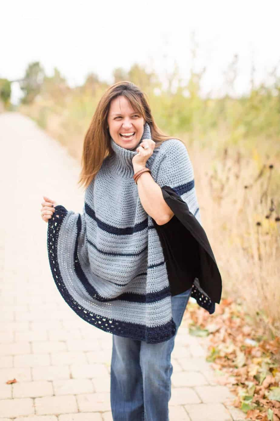 Montana Poncho free crochet pattern by Stitch and Hustle