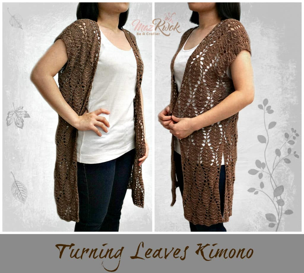 Turning Leaves Kimono by Maz Kwok of Be a Crafter a free crochet pattern