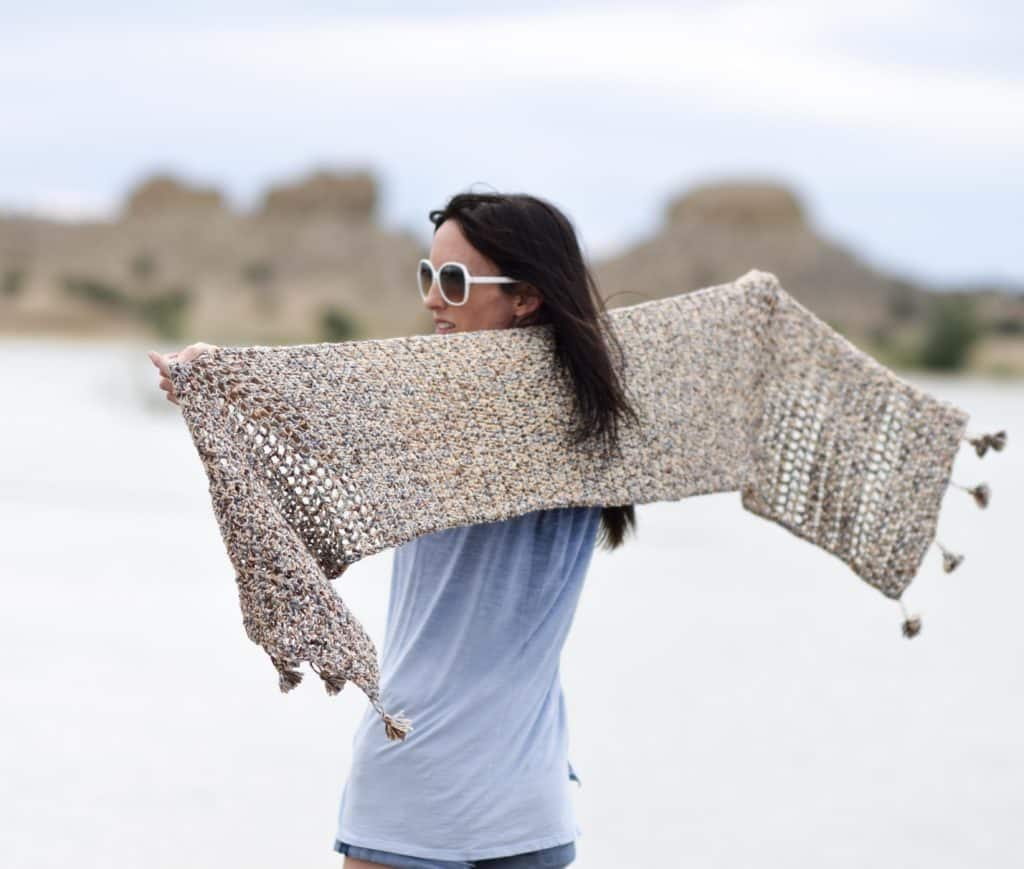 Wanders Wrap a free crochet pattern by Mama in a Stitch