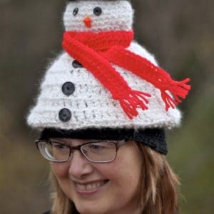 Light Me Up Snowman Hat Free Crochet Pattern
