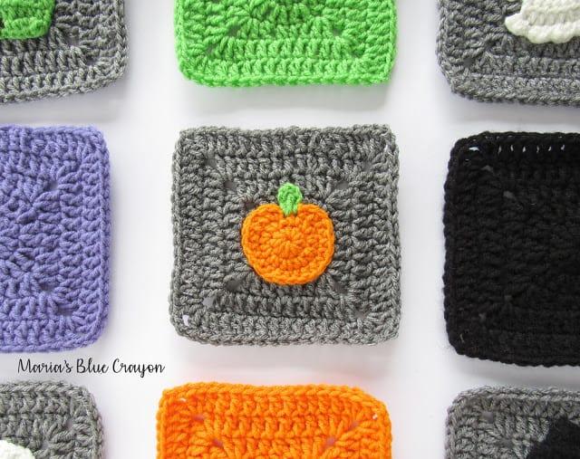 Pumpkin Granny Square by Maria's Blue Crayon