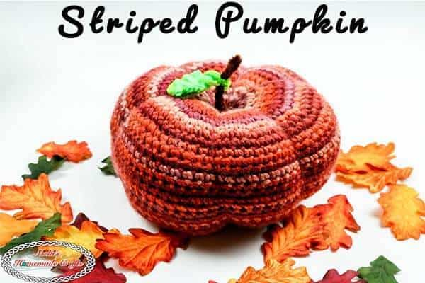 Striped Pumpkin Crochet Pattern by Nicki's Homemade Crafts